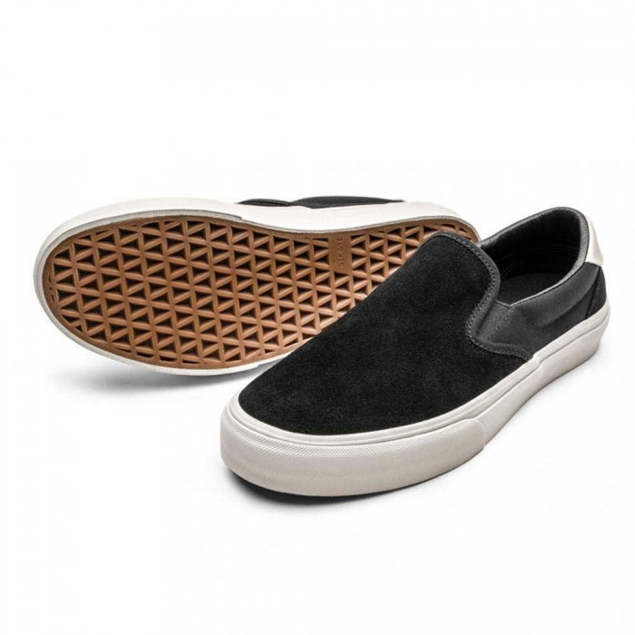 Straye Footwear Ventura Black Bone Suede Skate Shoes