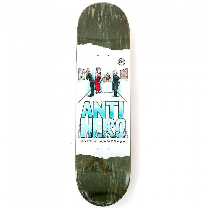 Anti Hero Kanfoush Expressions Skateboard Deck White 8.4""