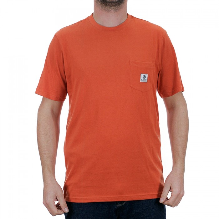 Element Basic Pocket Label Short Sleeve T-Shirt Burnt Ochre