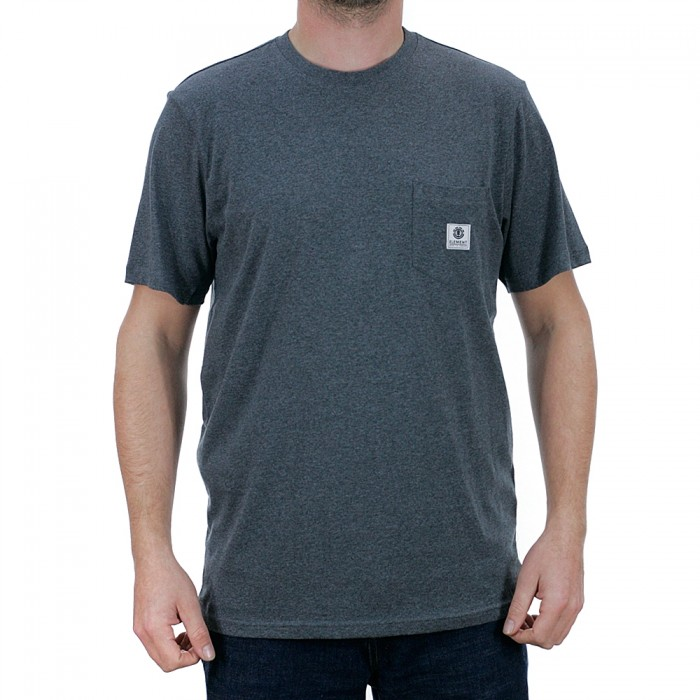Element Basic Pocket Label Short Sleeve T-Shirt Charcoal Heather