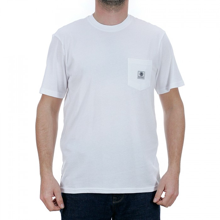 Element Basic Pocket Label Short Sleeve T-Shirt Optic White