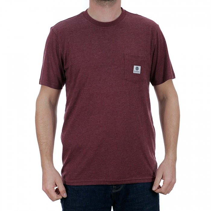 Element Basic Pocket Label Short Sleeve T-Shirt Port Heather