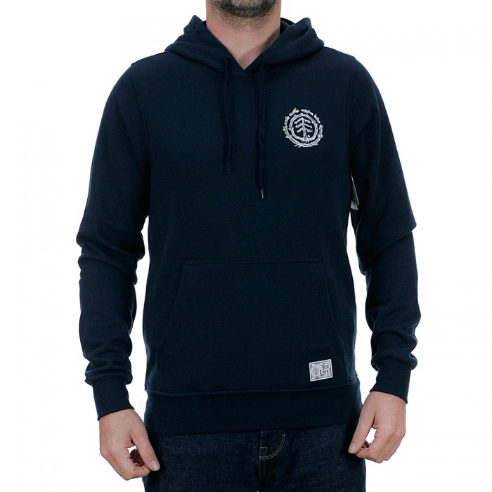 Element Too Late Logo Hooded Sweatshirt Eclipse Navy