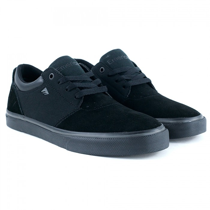 Emerica Footwear Alcove Black Black Grey Skate Shoes