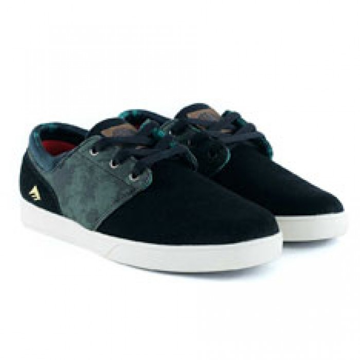 Emerica Footwear Figueroa X Harsh Toke Black Green Skate Shoes