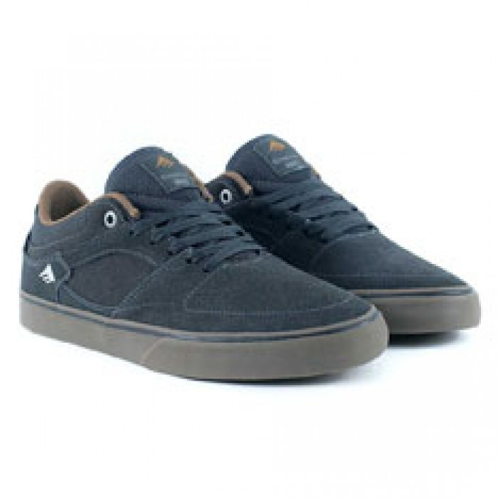 Emerica Footwear Hsu Low Vulc Dark Grey Skate Shoes