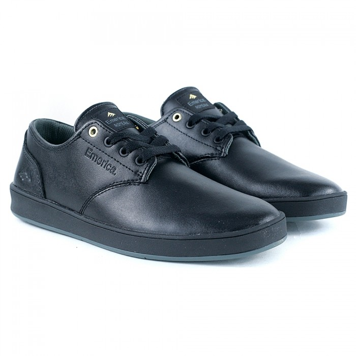 Emerica Footwear Romero Laced Black Black Grey Skate Shoes