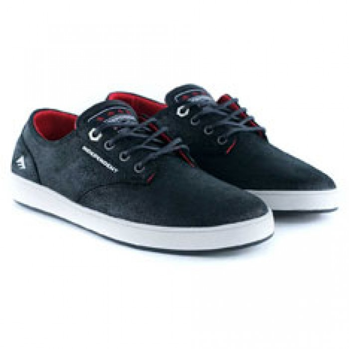 Emerica Footwear Romero Laced X Indy Black Grey Black Skate Shoes