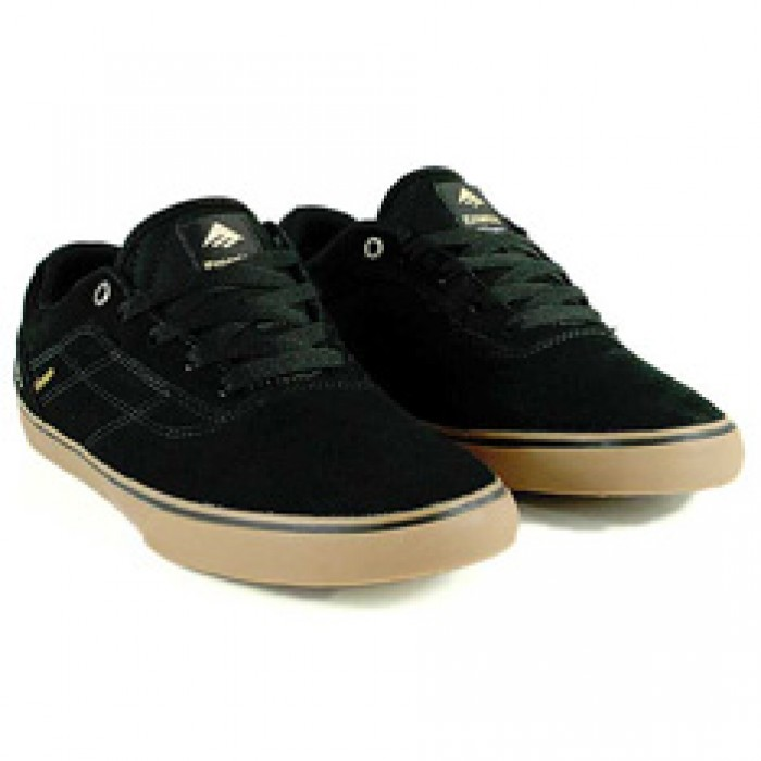 Emerica Herman G6 Vulc Black/Gum Skate Shoes
