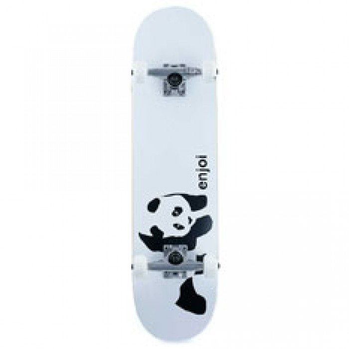 Enjoi Skateboards Whitey Panda Factory Complete Skateboard White 7.75""