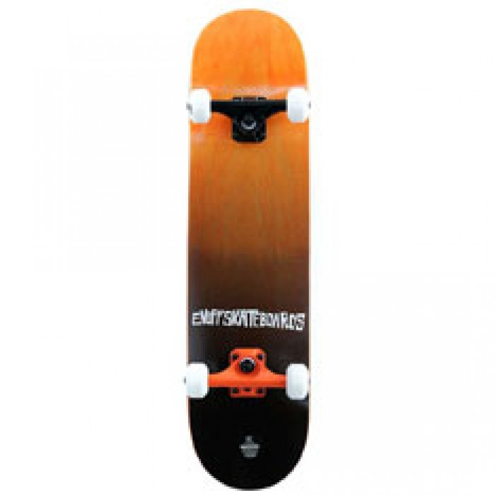 Enuff Skateboards Fade Factory Complete Skateboard Orange 7.75""