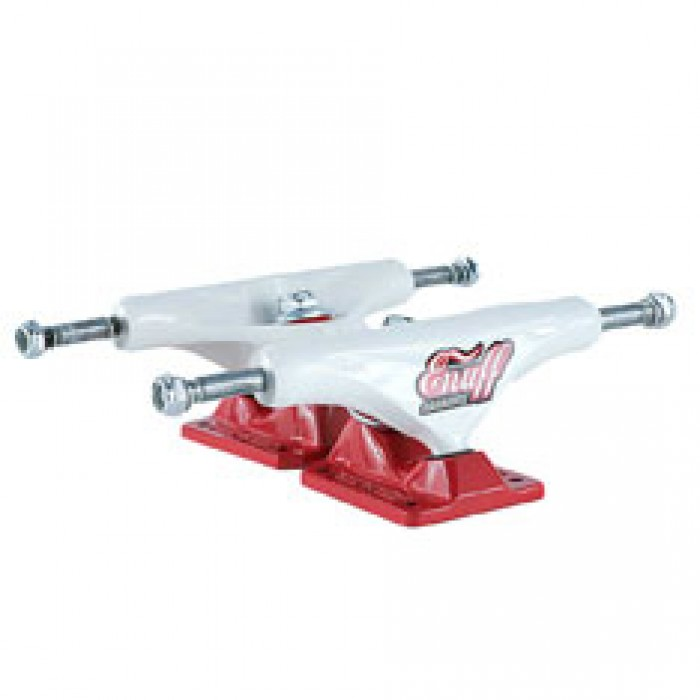Enuff Decade Pro Skateboard Trucks White Red 129mm