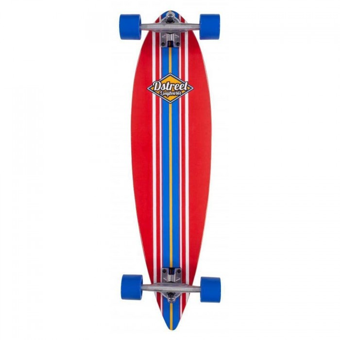 D Street Skateboard Pintail Ocean Red 35 Inch