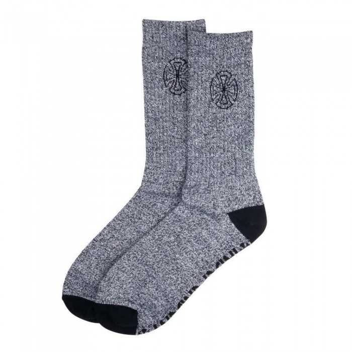 Independent Truck Co Bar Cross Cast Socks Marled Black One Size Adult