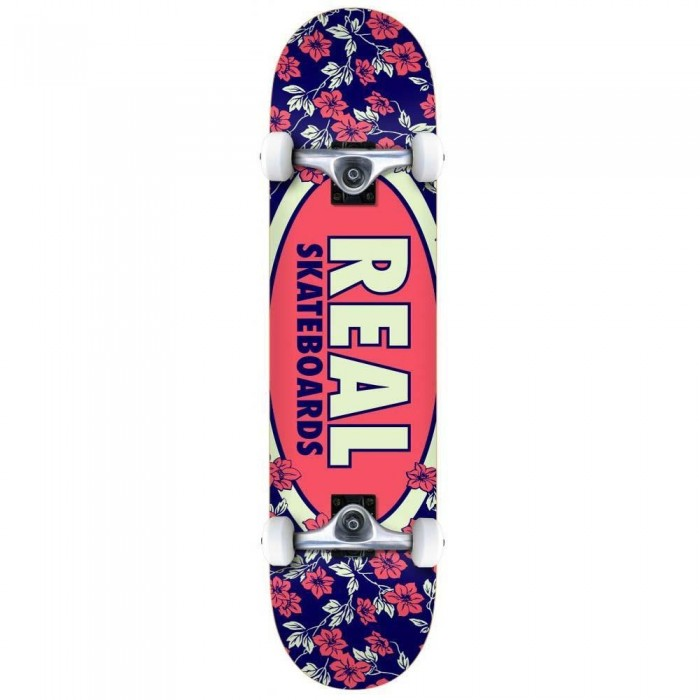 Real Oval Blossoms Factory Complete Skateboard Multi 7.75""
