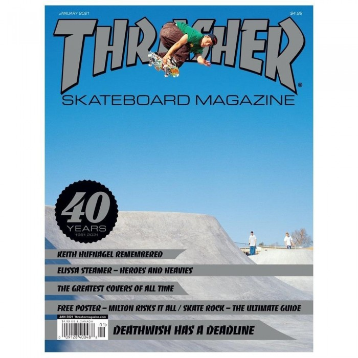 Thrasher Magazine 40 Years Anniversary Issue Cardiel Cover January 2021