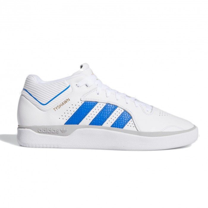 Adidas Skateboarding Tyshawn Feather White Blue Gold Metallic Skate Shoes