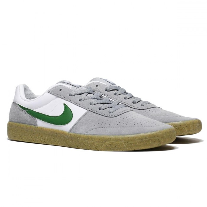 Nike Sb Team Classic Particle Grey Forest Green Skate Shoes
