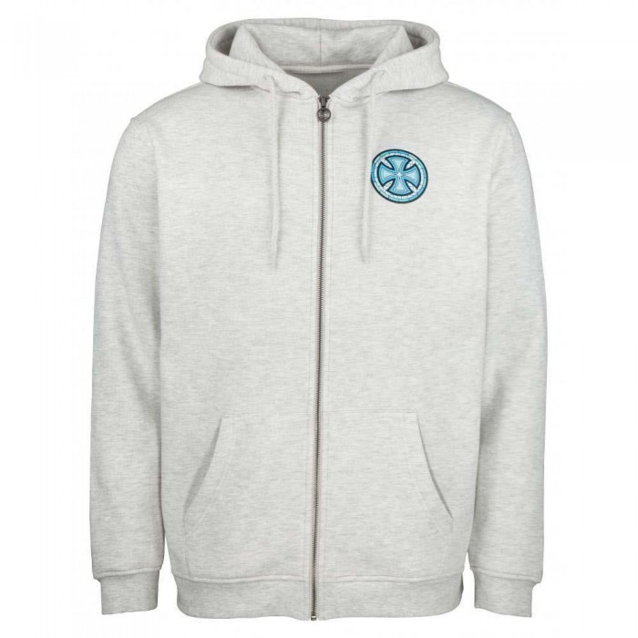 Independent Truck Co Stained Glass Zip Hooded Sweatshirt Athletic Heather Grey