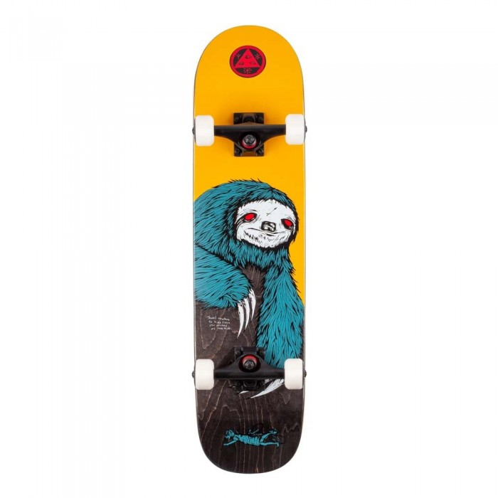 """Welcome Sloth Factory Complete Skateboard on Scaled Down Bunyip Gold 7.75"""""""