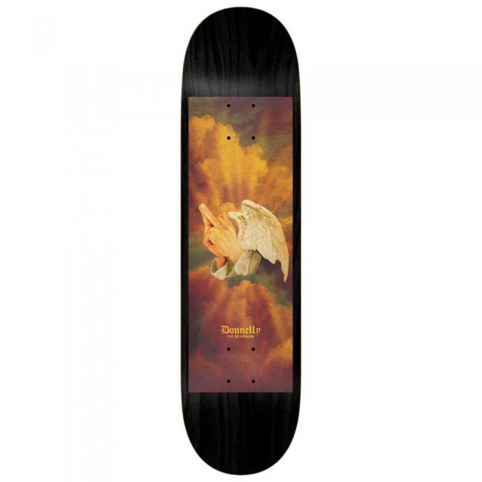 Real Donnelly Praying Fingers Skateboard Deck Black Multi 8.06""