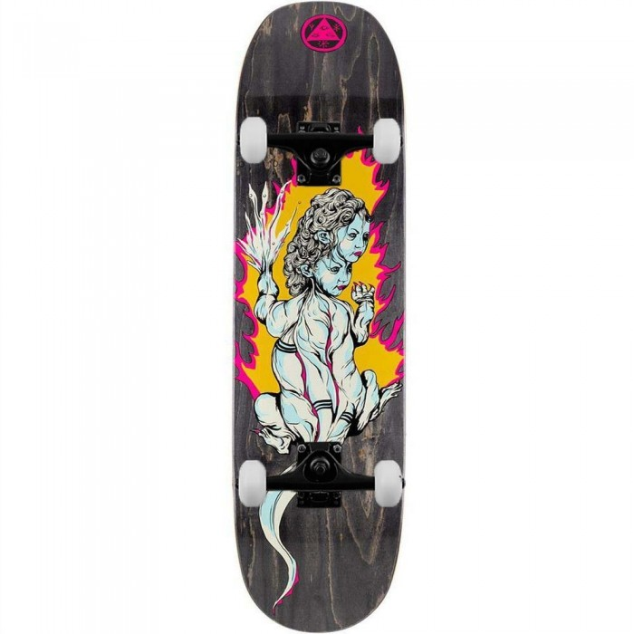 """Welcome Komodo Queen on Moontrimmer 2.0 Complete Skateboard Black Stain 8.5"""""""