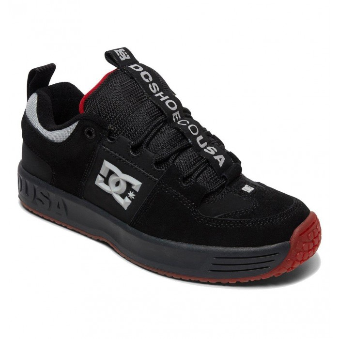 DC Shoe Co Lynx OG Archstreet Black Dark Grey Athletic Red Skate Shoes