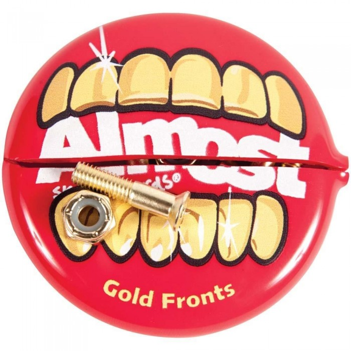 Almost Gold Fronts Nuts & Bolts Skateboard Bolts And Coin Pouch