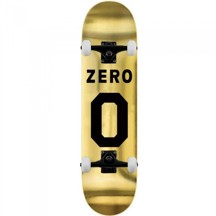 Zero Skateboards Numero Complete Skateboard Black Gold 8.375""