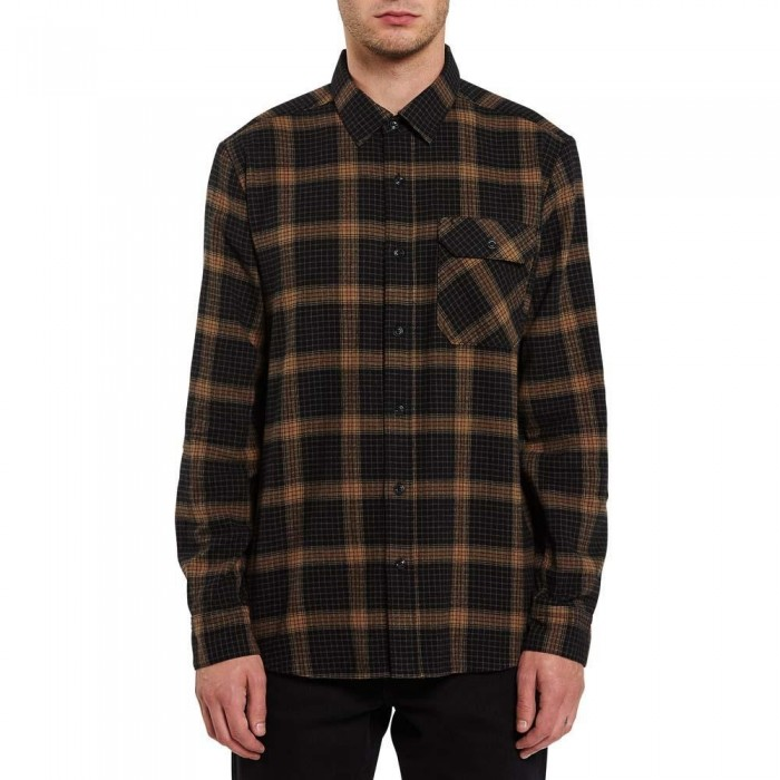 Volcom x Girl Skateboards Long Sleeve Flannel Shirt Black