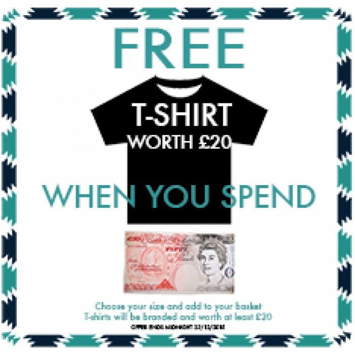 Free T-shirt when you spend over £50