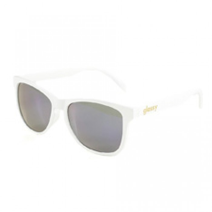 Glassy Sunhaters Deric Sunglasses White Blue Mirror