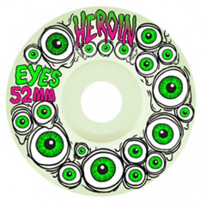 Heroin Eyes Glow In The Dark Wheels Green 52mm