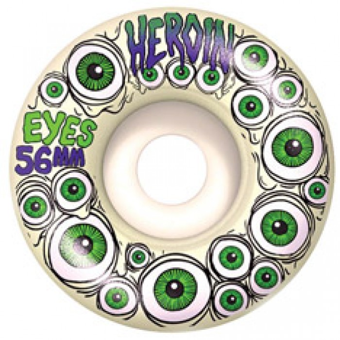 Heroin Eyes Glow In The Dark Wheels Green 56mm