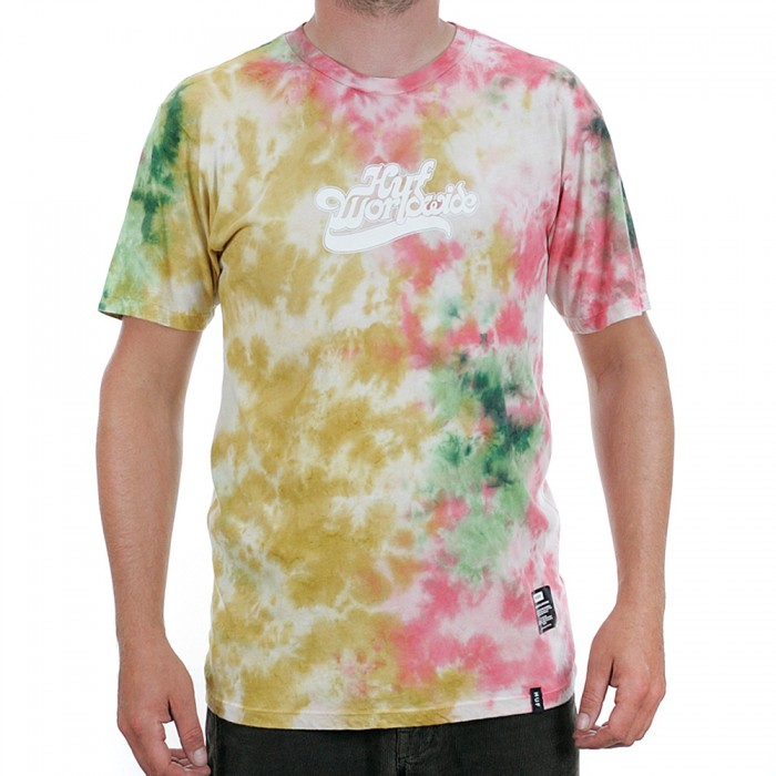 Huf Further Logo Tie Dye Short Sleeve T-Shirt Rust