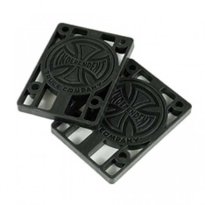 Independent Skateboard Riser Pads Pack of 2 Black 1/4""