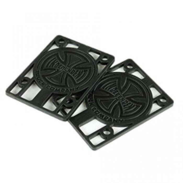 Indy Skateboard Riser Pads Pack of 2 Black 1/8""