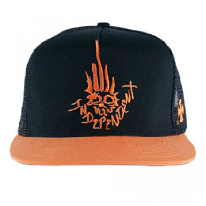 407fd48fbf2 Independent Truck Co x Jason Jessee Man Club Trucker Hat Black Orange
