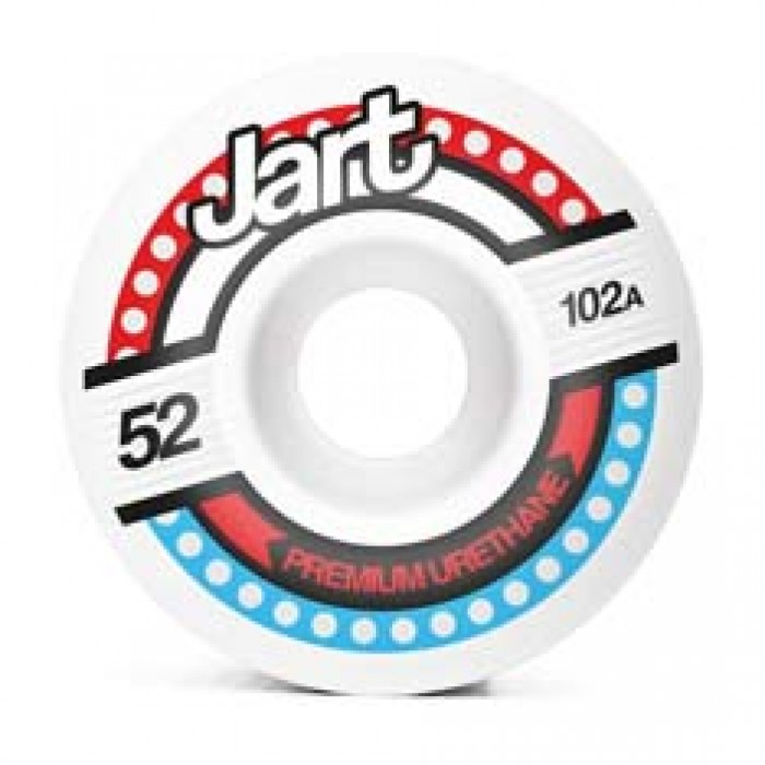 Jart Skateboards Tron Skateboard Wheels 102A White 52mm