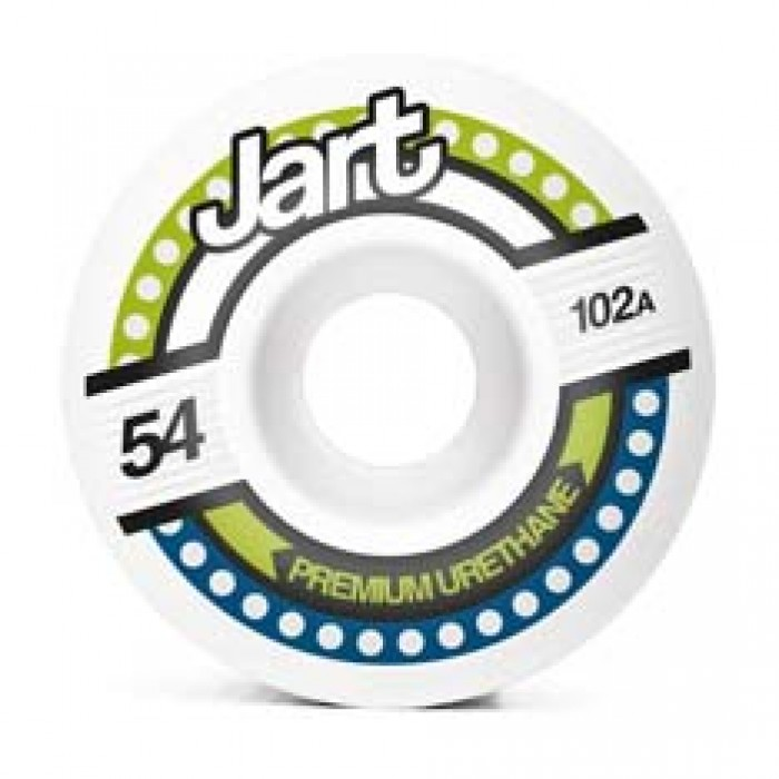 Jart Skateboards Tron Skateboard Wheels 102A White 54mm
