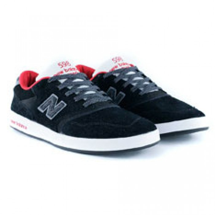 New Balance Numeric x Black Sheep 598 Reflective Wool Black Skate Shoes + FREE PACK