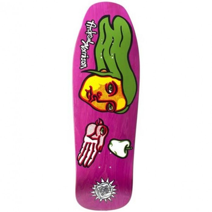 New Deal Skateboards Morrison Bird Screen Print Skateboard Deck Pink 9.875""