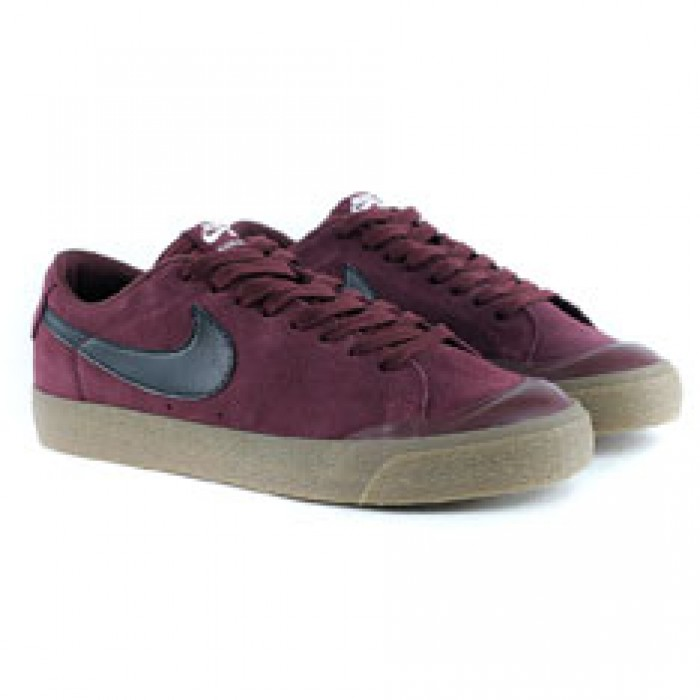Nike Sb Blazer Zoom Low XT Dark Team Red Black Sail Gum Skate Shoes