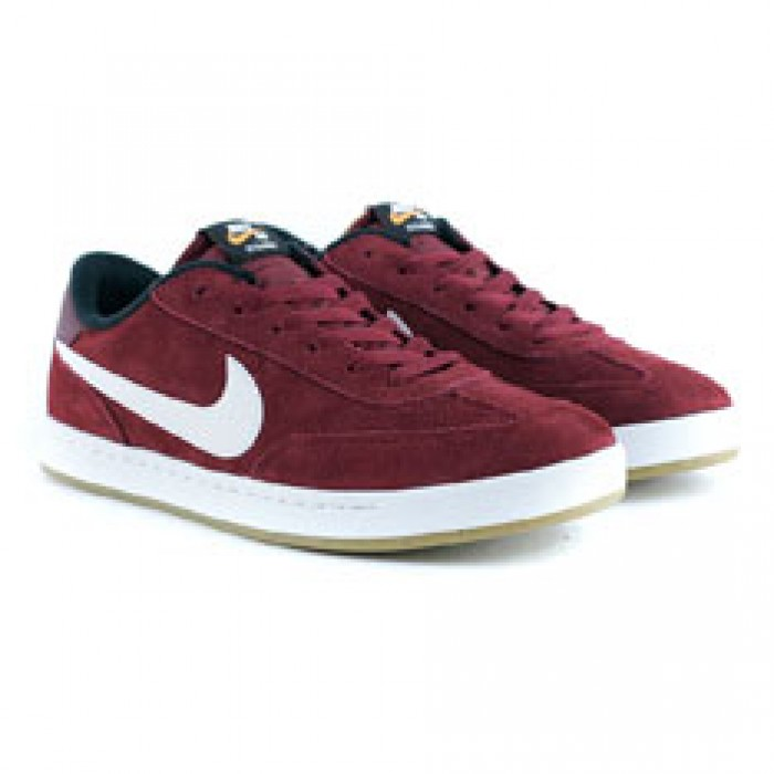 Nike Sb FC Classic Team Red White Black Vivid Orange Gum Skate Shoes