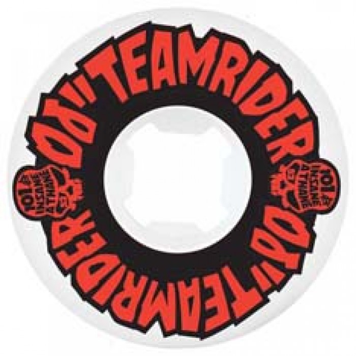 OJ Wheels Teamrider EZ Edge Skateboard Wheels 101a White 52mm