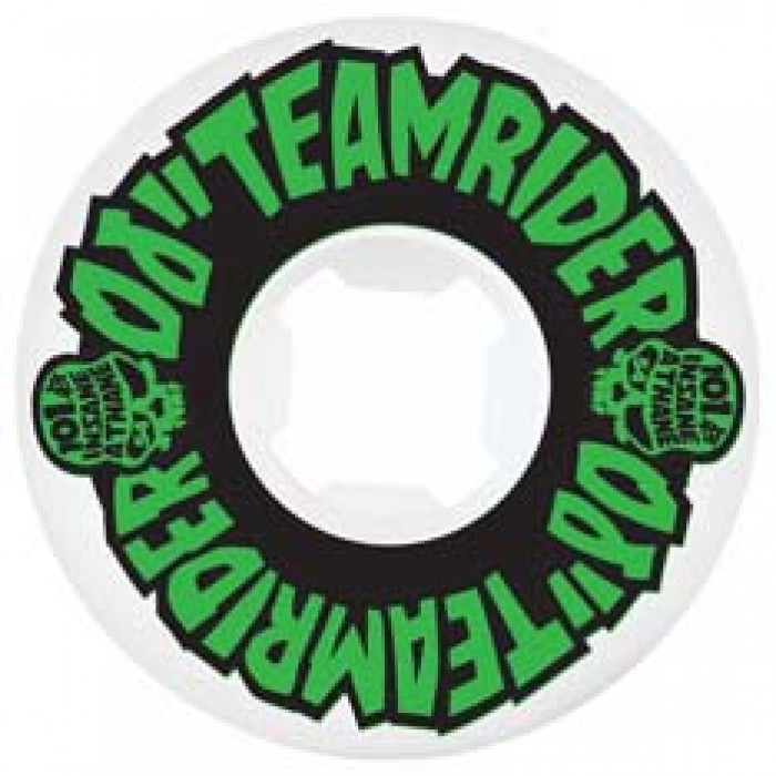 OJ Wheels Teamrider EZ Edge Skateboard Wheels 101a White 54mm