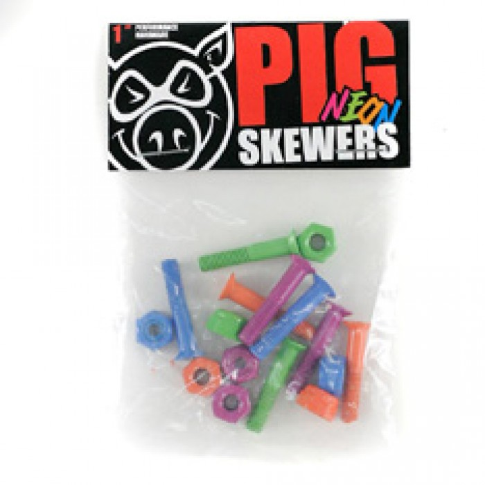 Pig Neon Skateboard Bolts Phillips 1""