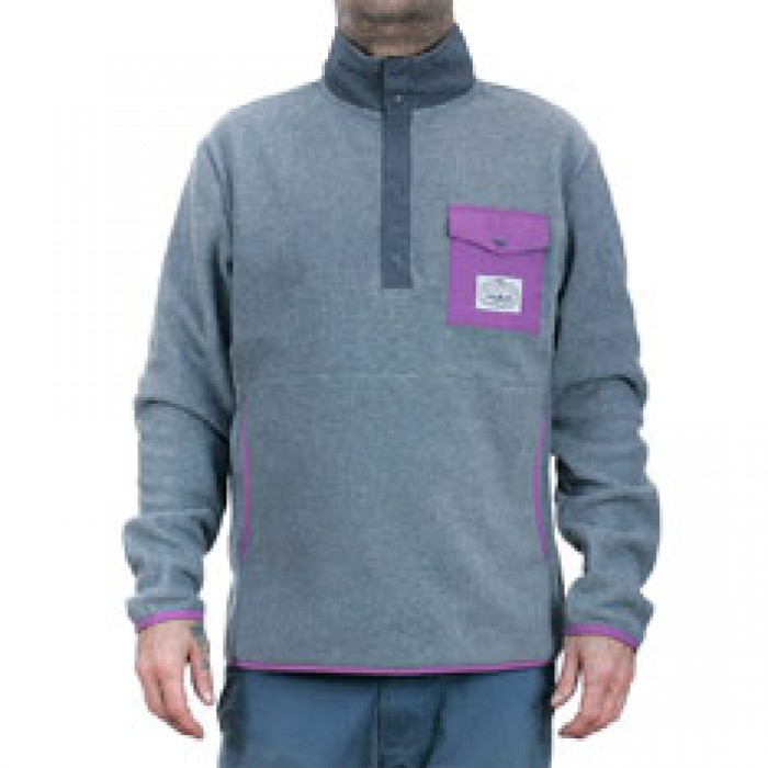 Poler Stuff Snap Specialty Fleece Jacket Grey