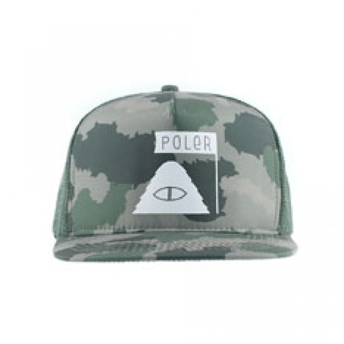 Poler Stuff Summit Trucker Hat Green Furry Camo