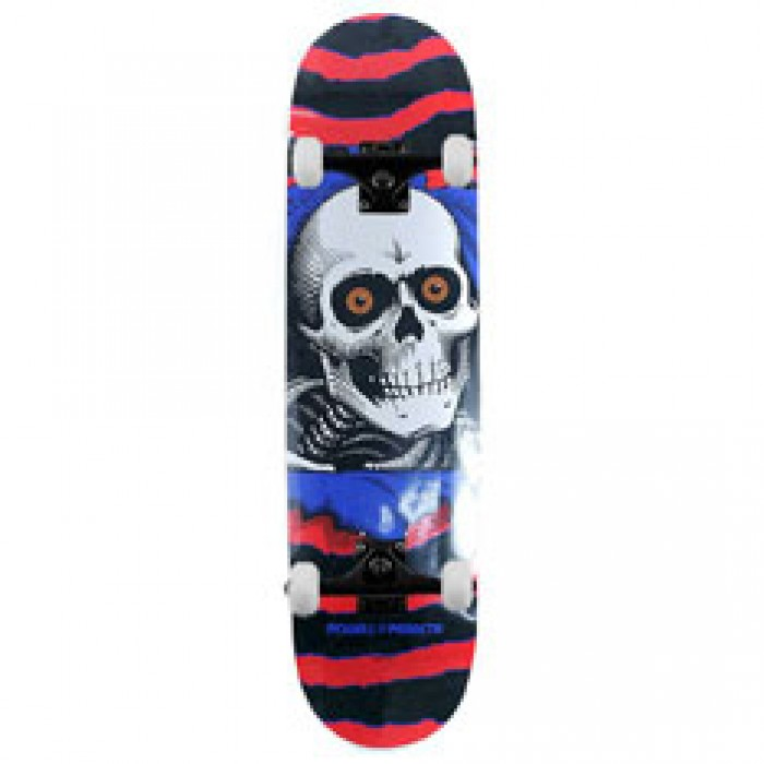 Powell Peralta Skateboards One Off Ripper Factory Complete Skateboard Red Blue 7.5""